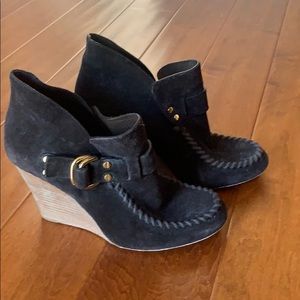 Tory Burch Black Suede Booties